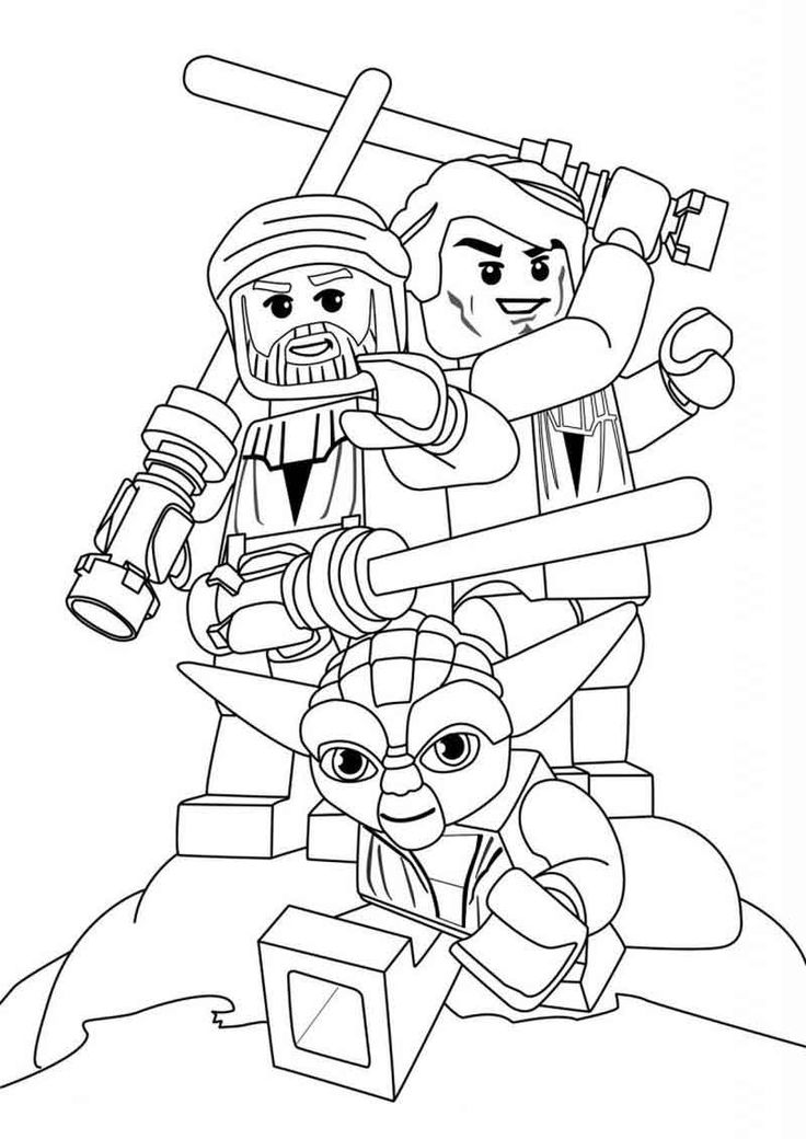 Printable Lego Star Wars Coloring Pages Darth maul