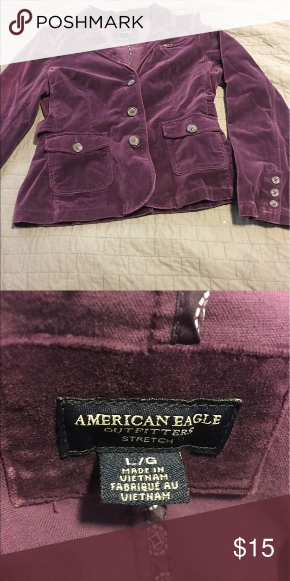 Adorable American Eagle Purple Velour Jacket Adorable American Eagle Purple Velour Jacket American Eagle Outfitters Jackets & Coats Blazers