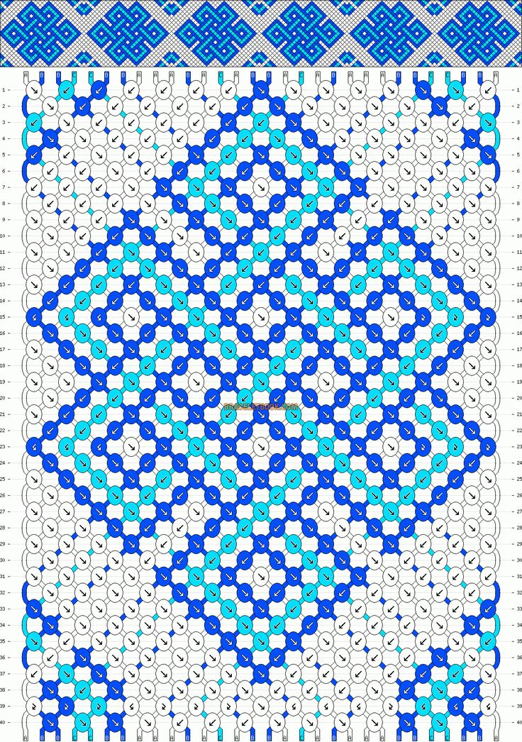 Normal Friendship Bracelet Pattern #10182 - BraceletBook.com
