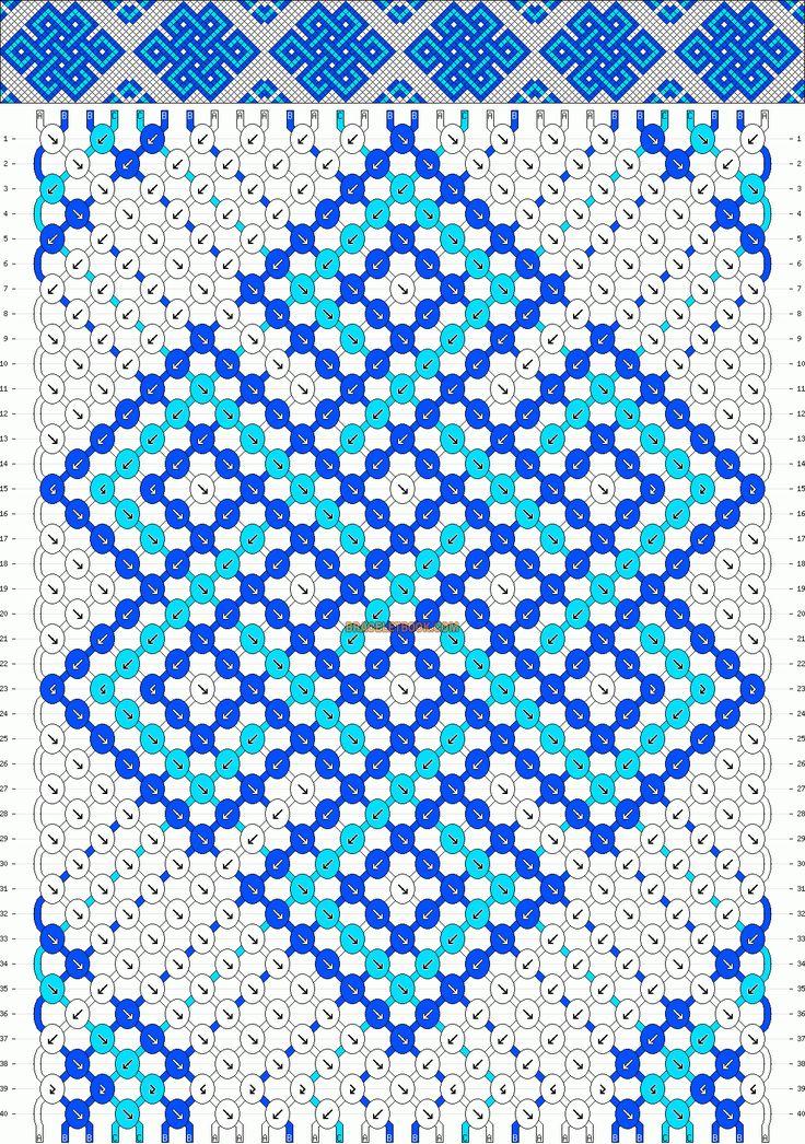 Normal Friendship Bracelet Pattern #10182 - BraceletBook.com