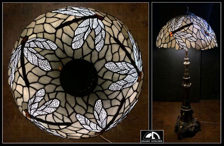 LAMPA GABINETOWA - WAŻKI  #glassatelier , #stainedglass , #lampa , #tiffany