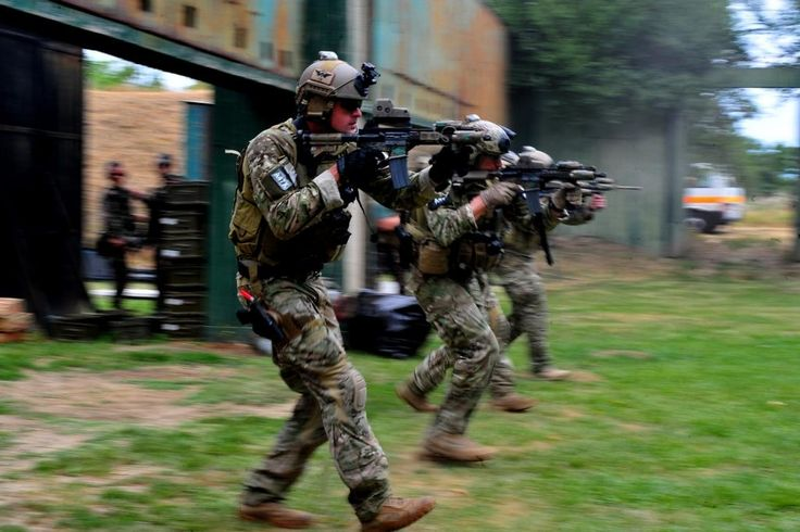 U.S. Soldiers with Special Operations Command Europe 1st Battalion 10th Special Forces Group (Airborne) Detachment Alpha 0114 participate with their Hungarian counterparts in small arms training at Szolnok Air Base Hungary July 13 2012. [1024 x 683]
