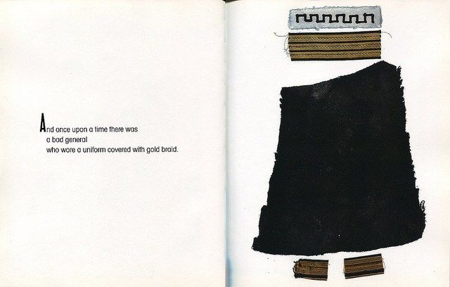 """The Bomb and the General     1966 semiotic children's book by Umberto Eco     """"beautiful abstract illustrations by Italian artist Eugenio Carmi contain recurring symbols that reiterate the story in a visceral way as the child learns to draw connections between the meaning of the images with the meaning of the words"""""""