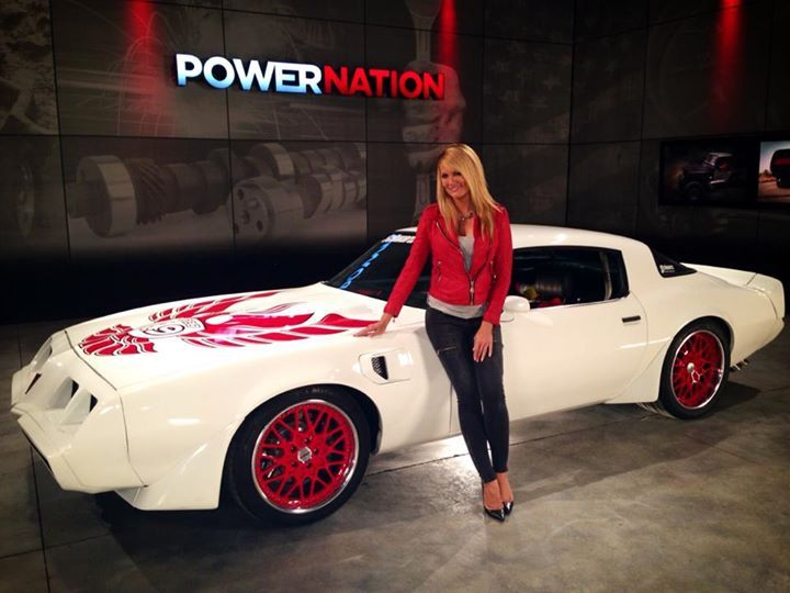 Courtney Hansen from PowerNation TV with Schwartz Performance Inc.'s 1000+ HP Trans Am on Forgeline TA3 wheels.
