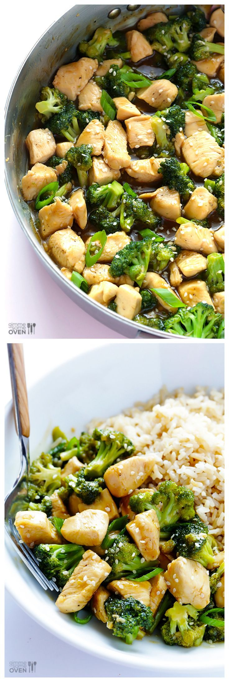 12-Minute Chicken & Broccoli -- so simple to make, and absolutely delicious! | gimmesomeoven.com