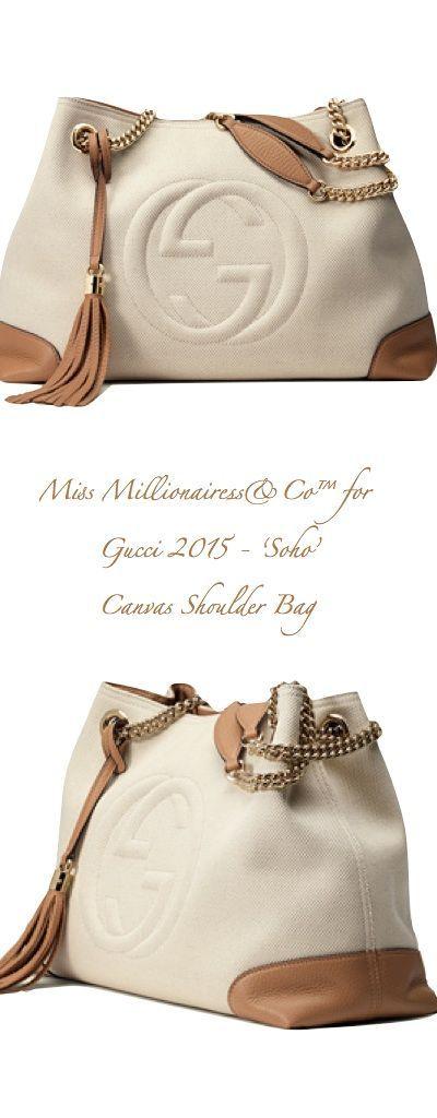 Gucci 2015 'Soho' Canvas Shoulder Bag - handbags for women sale, website for handbags, shop handbags