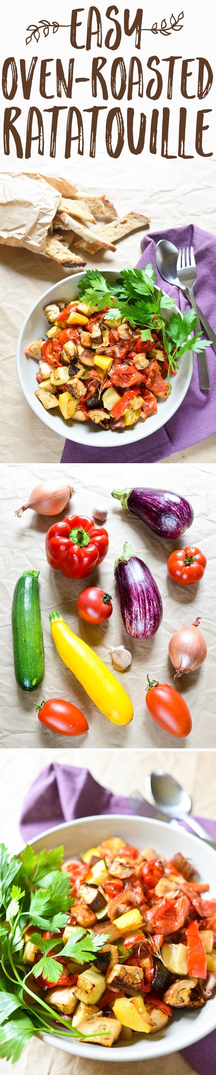 An easy twist of the stovetop classic, this oven-roasted ratatouille is faster and gives an incredible roasted flavor. It is even better the following day.
