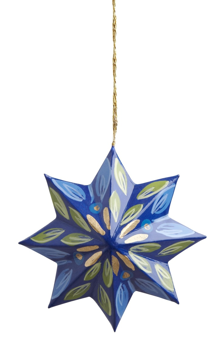 $14 Bright Ayacucho Star Ornament Handpainted And Lacquered Paper Star  Find This