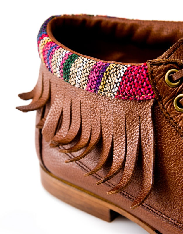 ethnic style nautical ankle boots from pull & bear