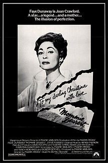Mommie Dearest - watched this camp classic while not feeling well.