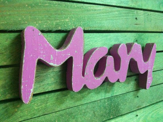 Nursery Baby Name  wood custom wooden sign script by svetulka, $39.00