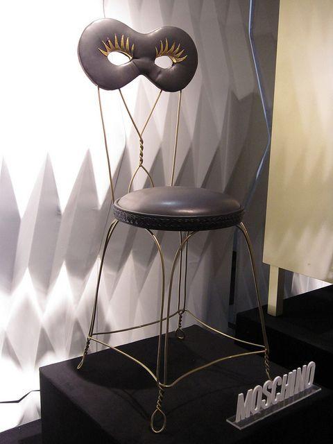 #maschera chair, by @Moschino for #altreforme, #arlecchino collection at Salone del Mobile 2012 #interior #home #decor #homedecor #furniture #aluminium