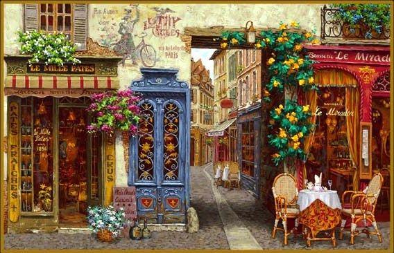 """As Cores Da Arte: Julho 2013. """"Rue Lafayette Paris"""" by Viktor Shvaiko."""