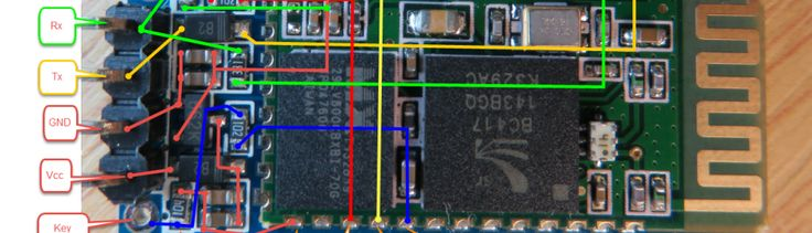 JY-MCU BT_BOARD V1.06 Top Side Details Extended