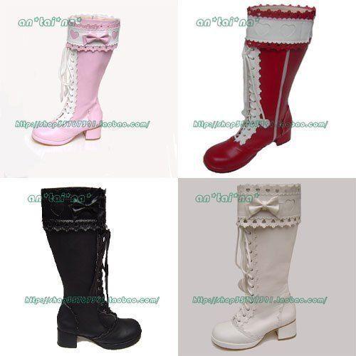 ◢ no * tai * na * ◣ LOLITA COS punk mote prinsesse kjole støvler 9022 - Taobao