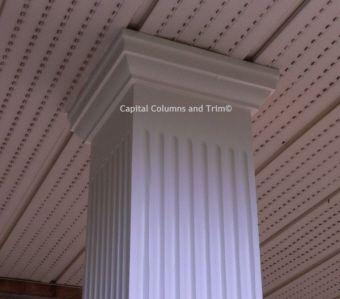15 best images about exterior fiberglass columns on for Fiberglass square columns