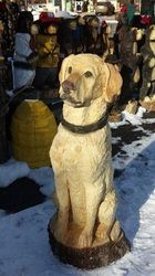 Pet Portraits - Nature Of Things Chainsaw Art...this doggy is carved out of wood...would you believe it!!