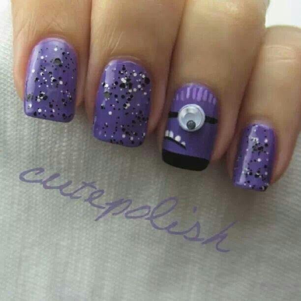 Minion nail polish!!