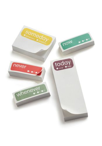 Sticky notes! I use them as reminders and for all sorts of lists. A must have for me to stay organized.