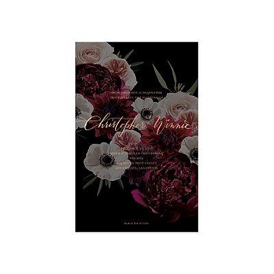 Moody Floral Invitation / Edgy / Dark / Foil Stamp / Black Edge Paint / Anne Robin Calligraphy / Modern / Custom / #myownblissandbone
