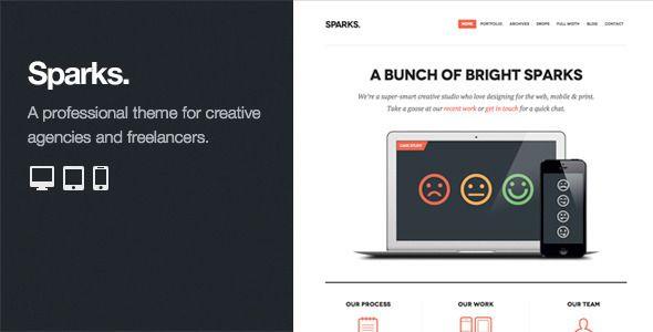 Sparks: Professional WordPress Portfolio Theme