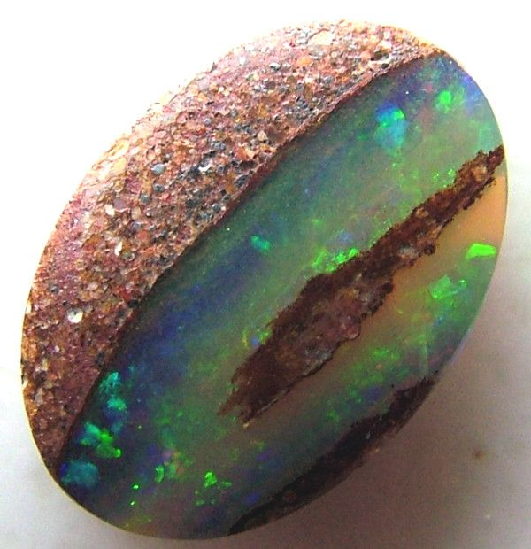 Boulder Opal - Australia..if I ever get married again, my wedding ring will be an Australian Opal
