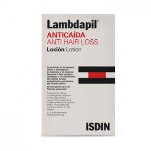 Lambdapil Loción anticaida 20 unidades, es el nuevo lanzamiento anticaida de isdin con acción antioxidante y protectora del foliculo favorec...