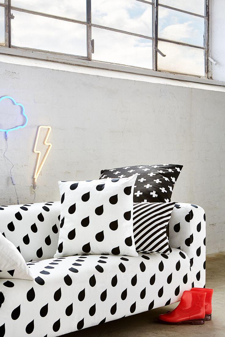ARTEFLY Ikea Klippan WATER DROPS cover