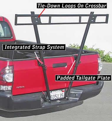 V-Racks carry the back end of cargo; a bed or roof rack is also required