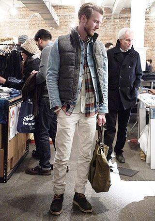 ダウンベスト×デニムジャケットの着こなし(メンズ) | Italy Web