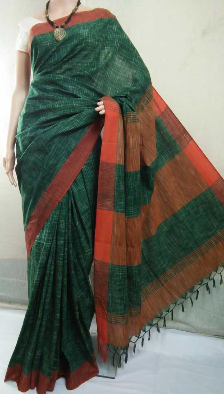 Jharna handloom saree with blouse