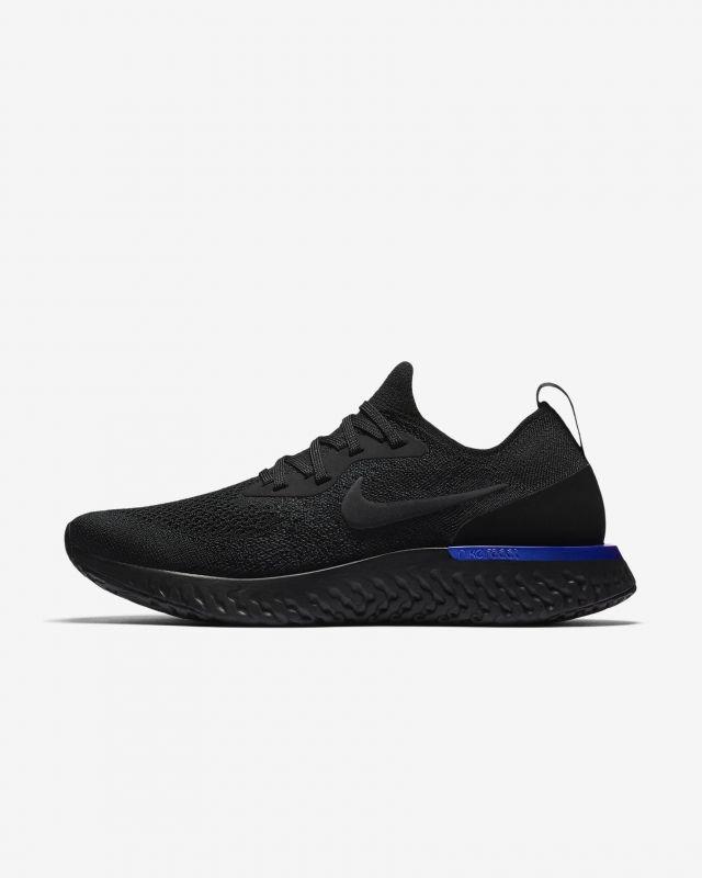 584365fb6088 Purchase Nike Epic React Flyknit Womens Running Shoe Black Racer Blue Black  AQ0070-004