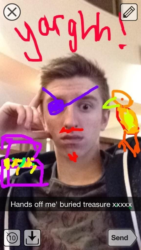 Revealing you're a pirate | 17 Works Of Snapchat Art