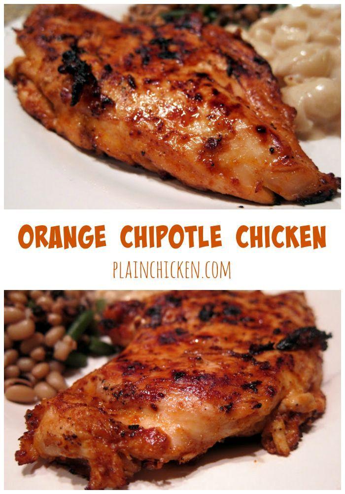 Orange Chipotle Chicken Marinade - orange juice, honey and chipotles ...