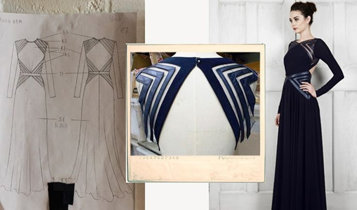 SKETCH TO SAMPLE: Meet Vea from the #CatherineDeane | Prefall 14 collection