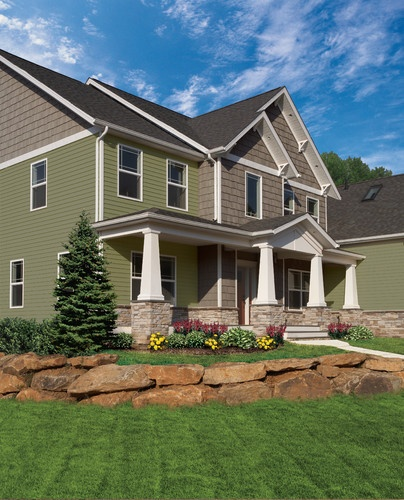 Craftsman Traditional Exterior Like The Dull Green Brown