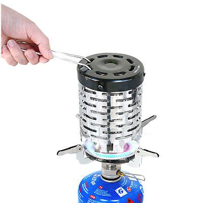 Portable Backpacking Stove Heater For Propane Gas Burner