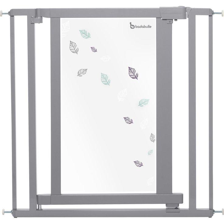 Barrière de sécurité bébé easy close #grey leaves de #Badabulle est pratique , facile d'utilisation et adaptable à toute ouvertures... #barrièrebébé #barrèredeporte #barrièred'escalier #barriereeasyclose #gris #universel
