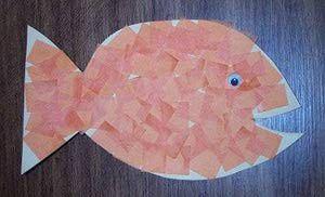 Mosaic Goldfish Craft: How to Make a Goldfish Craft Using Tissue Paper
