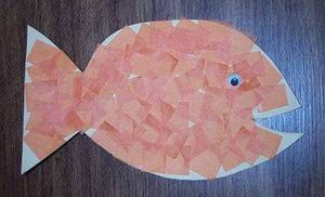 Mosaic Goldfish Craft: How to Make a Goldfish Craft Using Tissue Paper