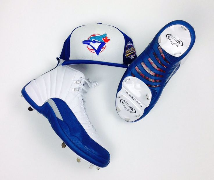 MLB Player Russell Martin Converts The Air Jordan 12 French Blue Into A Cleat
