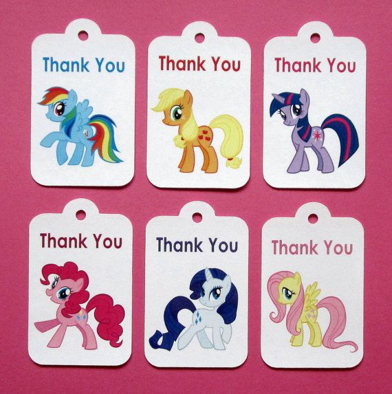 My Little Pony Thank You Tags . Set of 13 by TheBlissfulBaker