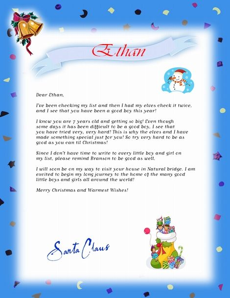 Best Letters From Sanata Images On   Christmas Images