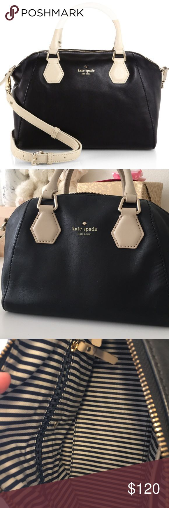 Kate Spade Black Catherine Street Pippa In perfect preloved condition. No scratches or stains. Inside is very clean!!! Comes with strap, no signs of wear on handles.   🌟 Reasonable offers encouraged 🌟 🚫 Sorry, no trades. kate spade Bags