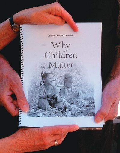 The Woodcrest Bruderhof community's Johann Christoph Arnold pens 'Why Children Matter'