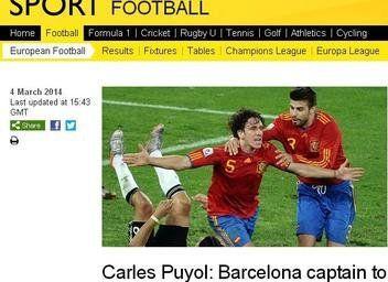Revista de prensa internacional: Tarzán Puyol cortó la liana