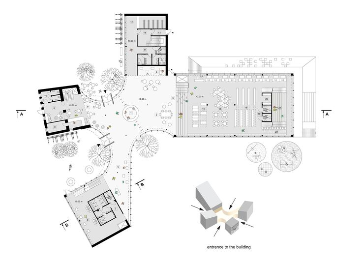 Image 11 of 16 from gallery of Library Building in Bauska Winning Proposal / A2SM Architects. floor plan