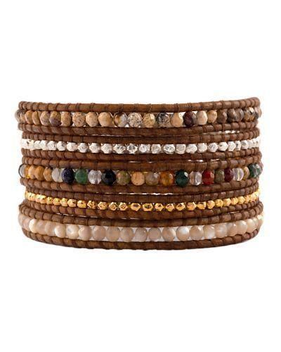 From the mind of renowned designer Chan Luu, this wrap bracelet is handmade from premium, natural materials for a luxurious, inspired look that's second to none. Rich leather and... More Details