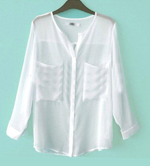 Best 25  White chiffon blouse ideas on Pinterest | Work blouse ...