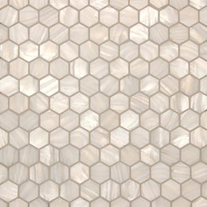 OUR SUPPLIER - Mother of Pearl White Hexagonal Mosaics from Surface Gallery